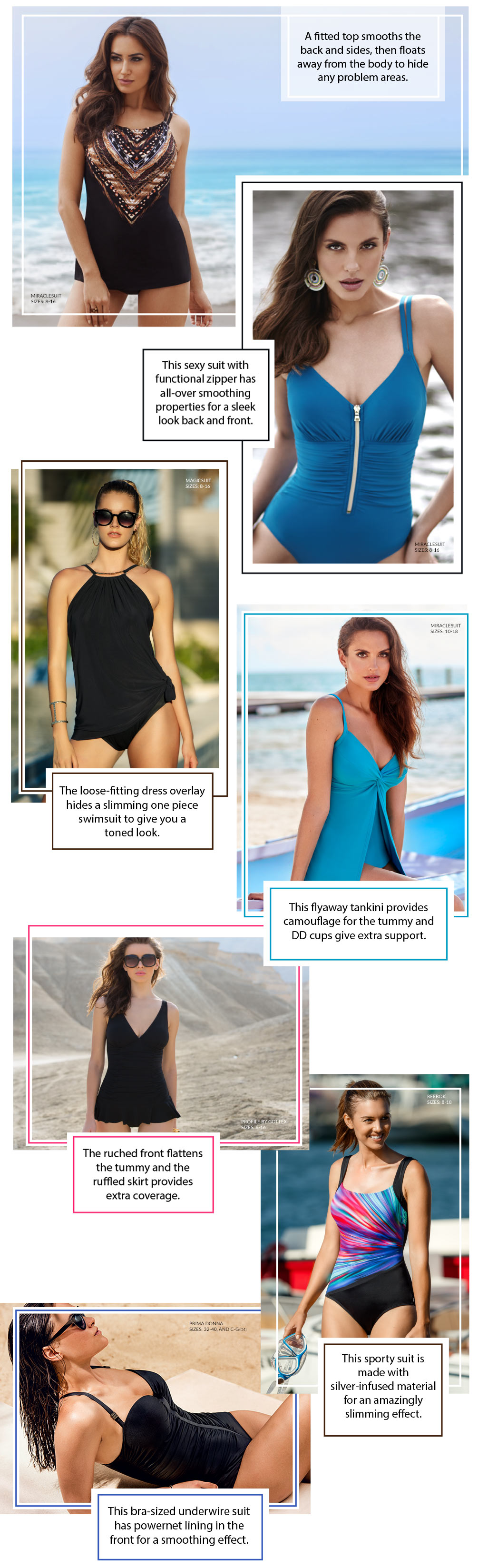 Slimming Swimwear Lookbook